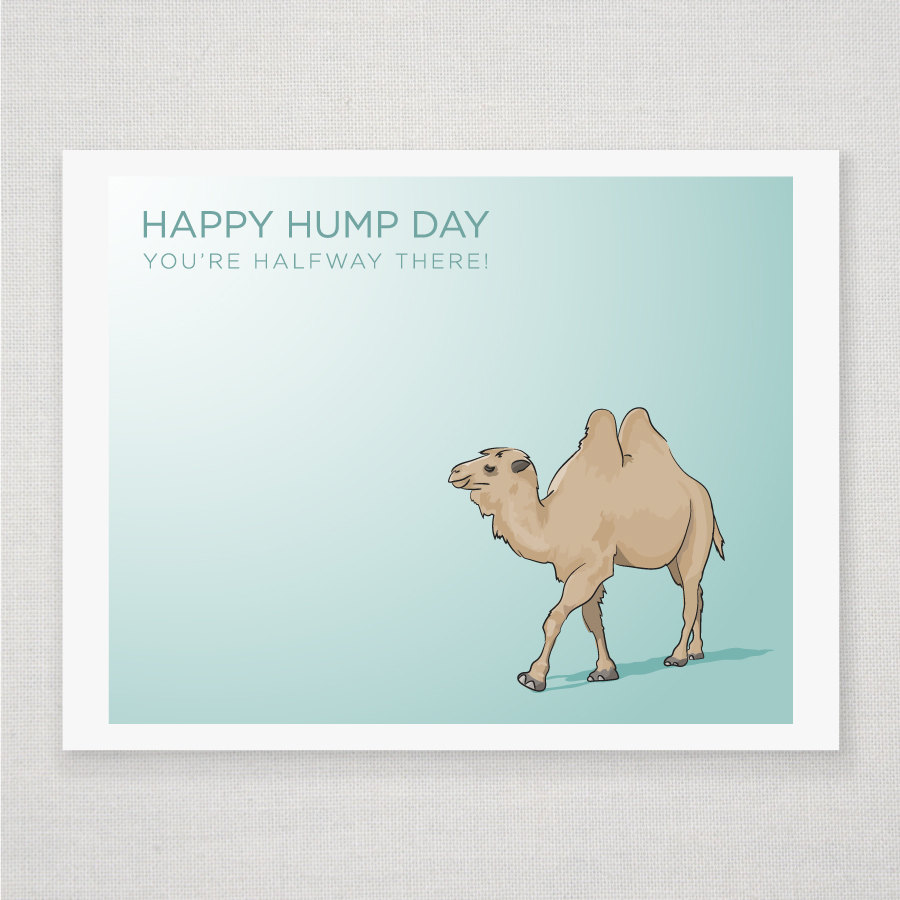 Happy Hump Day Camel - Illustrated Print - 8 x 10 Archival Matte Print